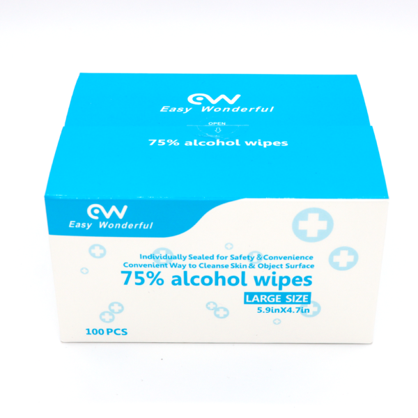 box of 75% alcohol wipes